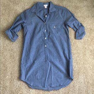 JCrew Button Down Tunic XXS